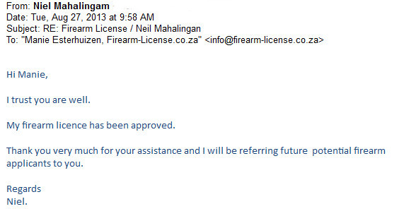 a new firearm license