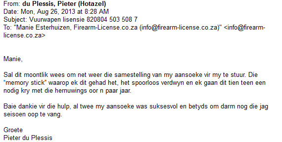 firearm license south africa