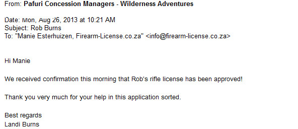new firearm license gauteng